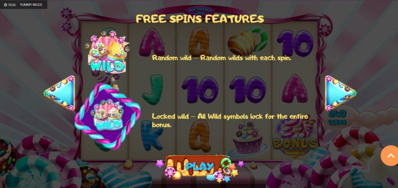 Yummy Wilds :: Free Spin Feature Rules