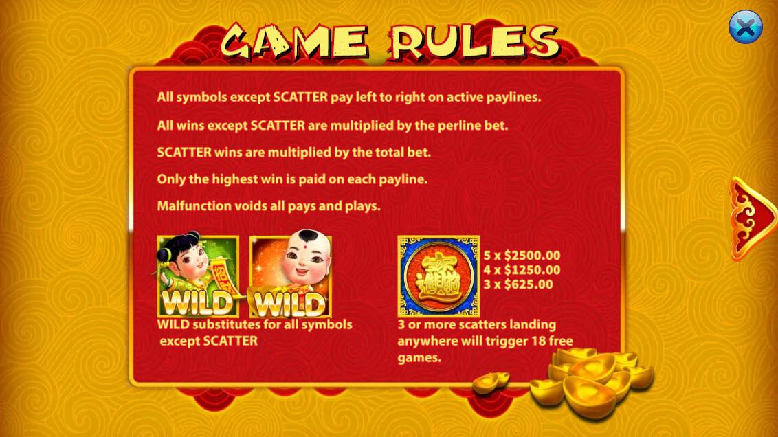 Yun Cai Tong Zi :: Wild Symbols Rules