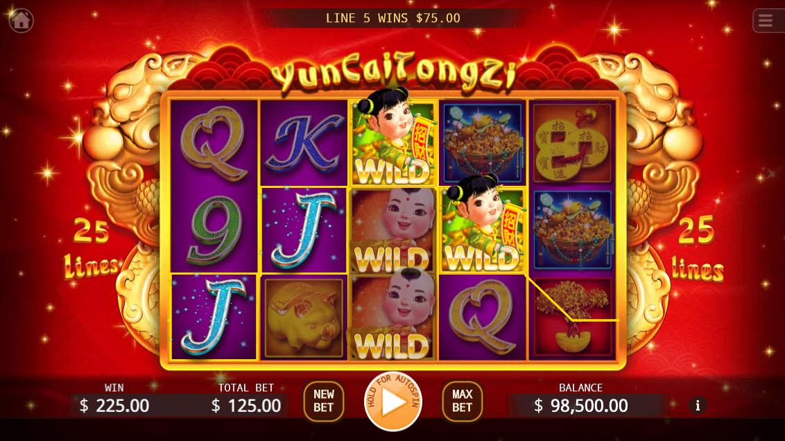 Yun Cai Tong Zi :: Multiple winning paylines