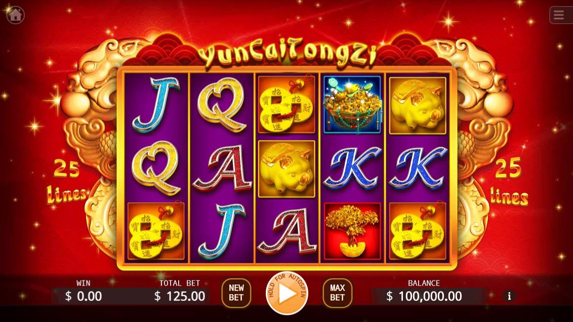 Yun Cai Tong Zi :: Main Game Board