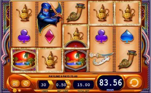 Vegas Winner featuring the Video Slots Zanzibar with a maximum payout of $1,500