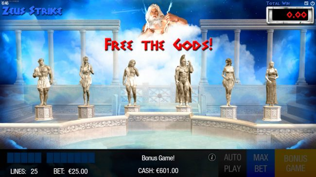 Zeus will free the gods and award cash prizes