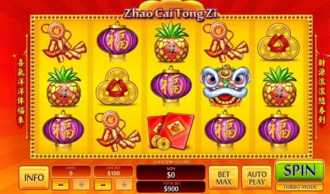 Play slots at Brazino777: Brazino777 featuring the Video Slots Zhao Cai Tong Zi with a maximum payout of $1,000,000