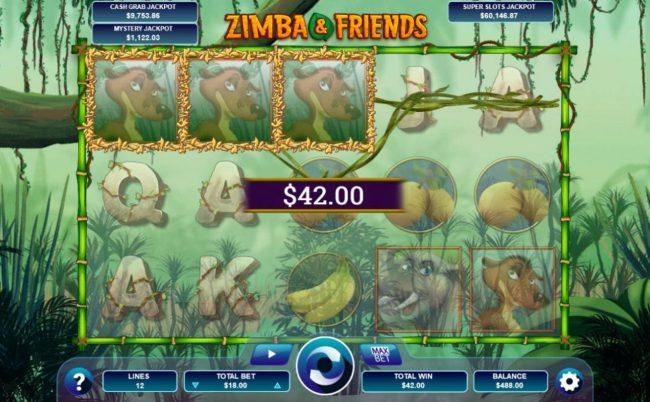 Play slots at Drake: Drake featuring the Video Slots Zimba & Friends with a maximum payout of Jackpot