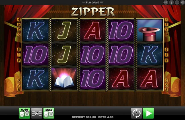 Play slots at Spinrider: Spinrider featuring the Video Slots Zipper with a maximum payout of $1,600
