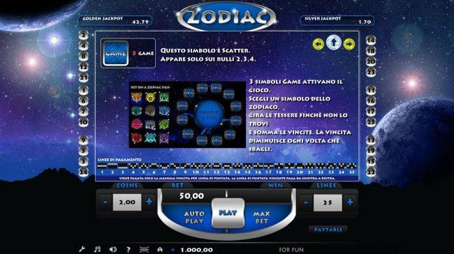 Zodiac :: Bonus Game Rules