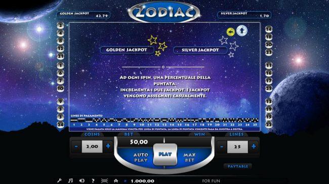 Zodiac :: Jackpot Feature Rules