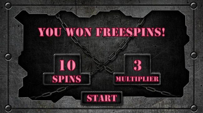 Zombie Escape :: 10 free spins with an x3 multiplier awarded player