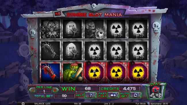Zombie Slot Mania :: Multiple winning paylines