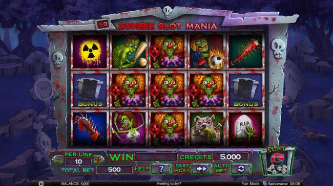 Zombie Slot Mania :: Main Game Board