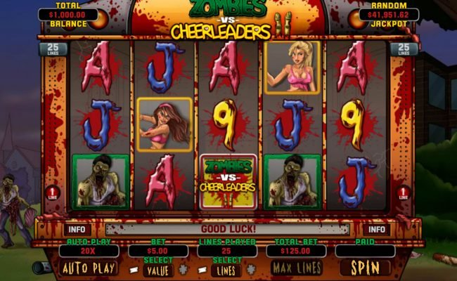 Play slots at Prima Play: Prima Play featuring the Video Slots Zombies vs Cheerleaders II with a maximum payout of $5,000