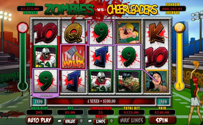 Sun Palace featuring the Video Slots Zombies vs Cheerleaders with a maximum payout of $5,000