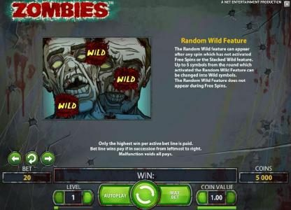 888 Casino featuring the Video Slots Zombies with a maximum payout of $10,000