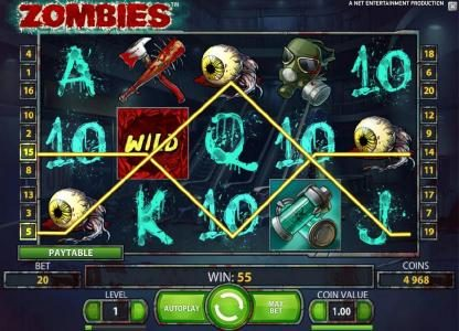 EU Casino featuring the Video Slots Zombies with a maximum payout of $10,000