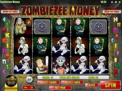 Play slots at Domgame: Domgame featuring the Video Slots Zombiezee Money with a maximum payout of $10,000