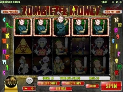 Desert Nights Rival featuring the Video Slots Zombiezee Money with a maximum payout of $10,000