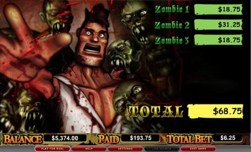 Spinland featuring the video-Slots Zone of the Zombies with a maximum payout of 6,00x