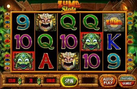 Caesars featuring the Video Slots Zuma Slots with a maximum payout of $250,000