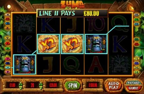 Thrills featuring the Video Slots Zuma Slots with a maximum payout of $250,000