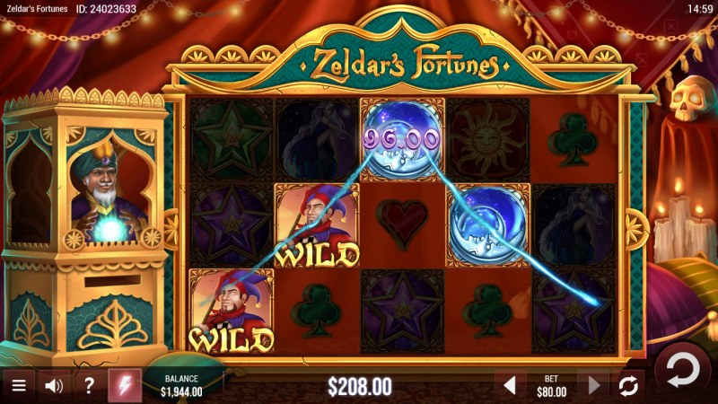 Zeldar's Fortunes :: A four of a kind win