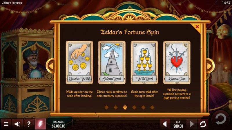 Zeldar's Fortunes :: Feature Rules