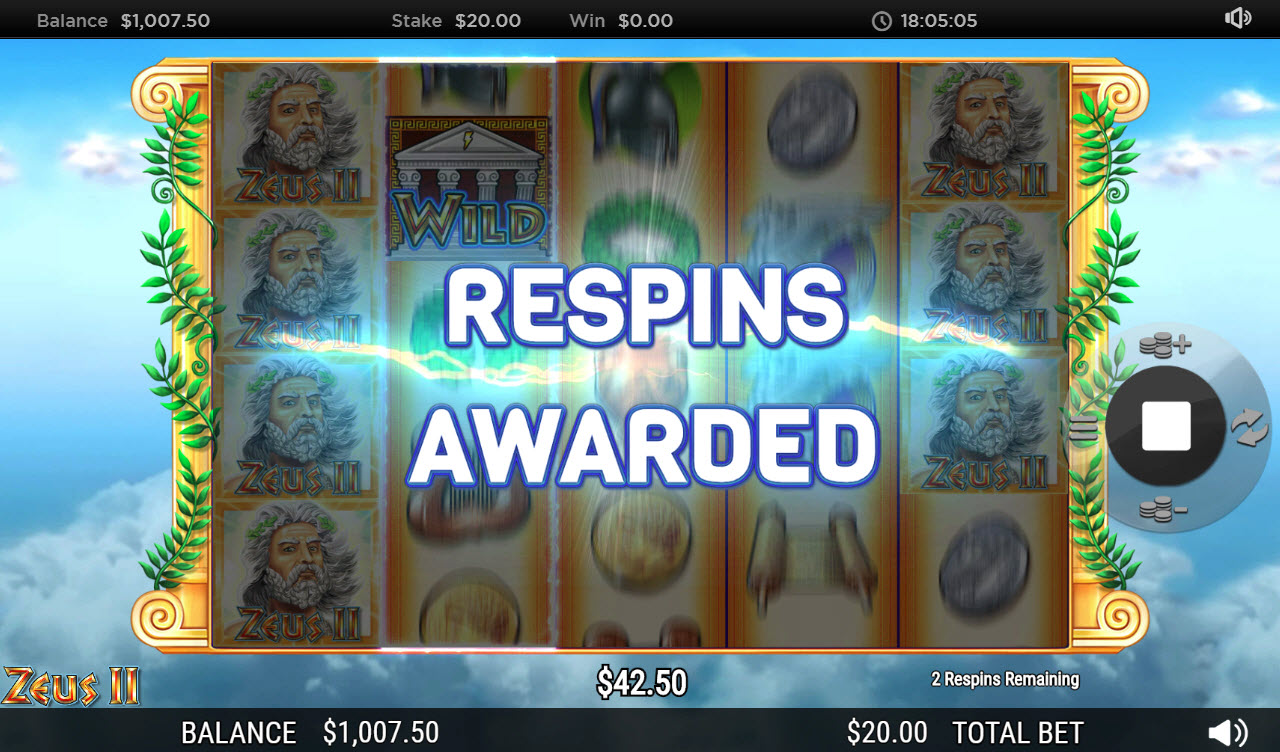 Zeus II :: Respins Awarded