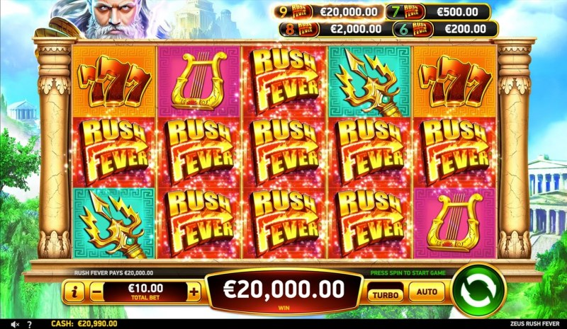 Zeus Rush Fever :: Rush Fever Win