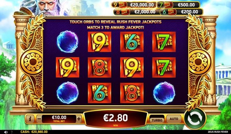 Zeus Rush Fever :: Jackpot Mania
