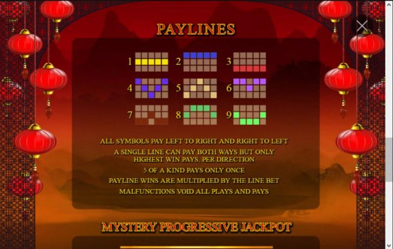 Zhao Cai Jin Bao Jackpot :: Paylines 1-9