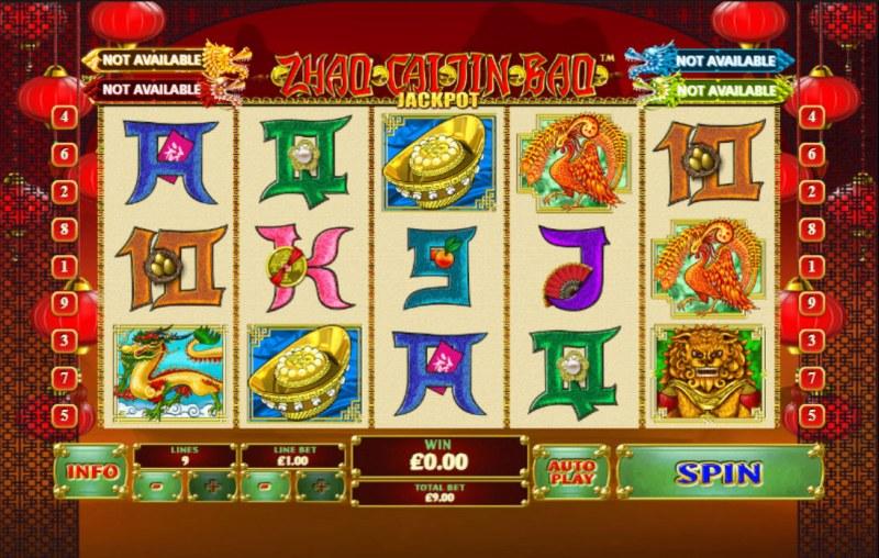 Zhao Cai Jin Bao Jackpot :: Main Game Board