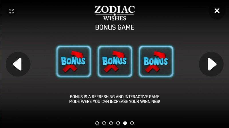 Zodiac Wishes :: Bonus Game Rules