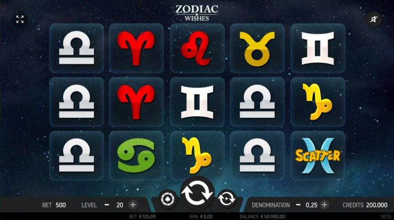 Zodiac Wishes :: Main Game Board