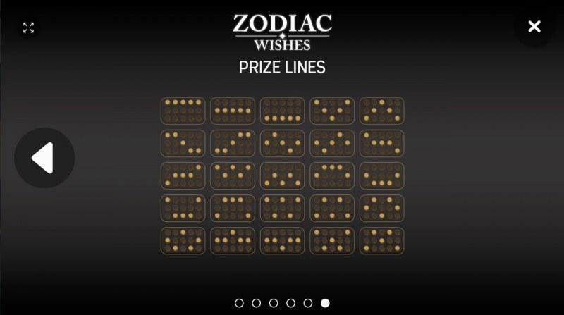 Zodiac Wishes :: Paylines 1-25