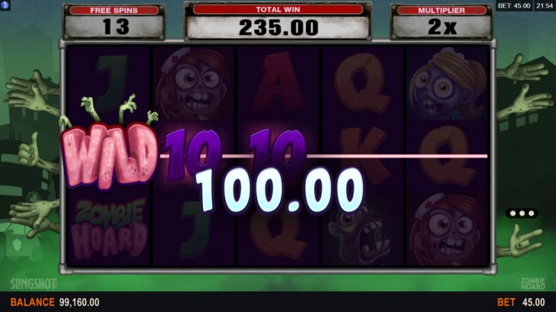 Zombie Hoard :: Free Spins Game Board