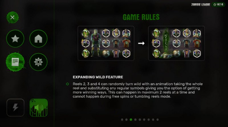 Zombie League :: Expanding Wild Feature Rules
