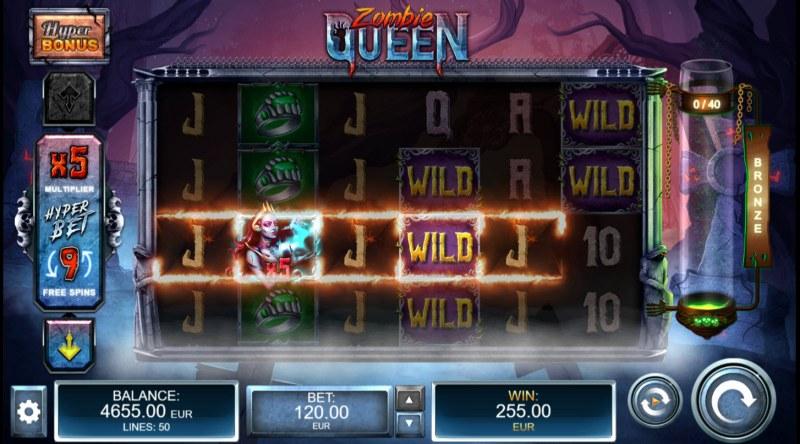 Zombie Queen :: Multiple winning paylines