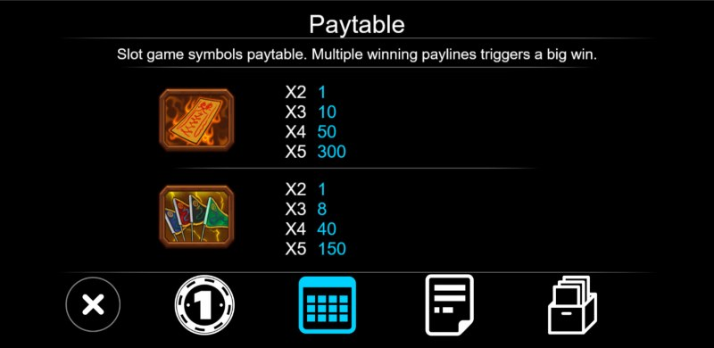 Zombie :: Paytable - Low Value Symbols