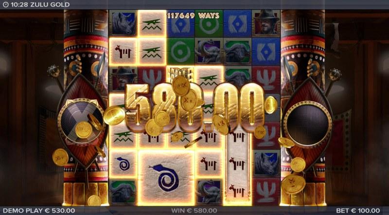 Zulu Gold :: Multiple winning combinations