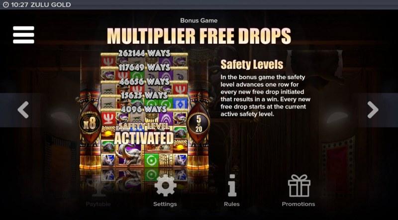 Zulu Gold :: Multiplier Free Drops