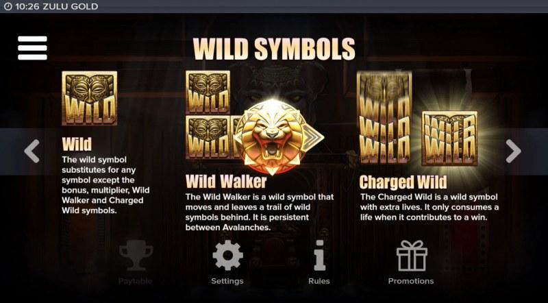 Zulu Gold :: Wild Symbol Rules