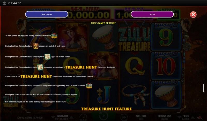 Zulu Treasure :: Free Game Rules