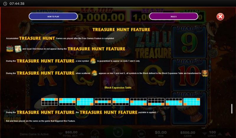 Zulu Treasure :: Treasure Hunt Feature
