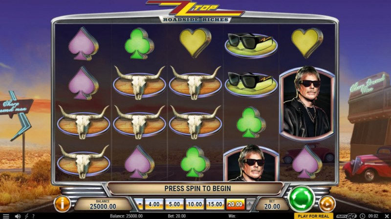 ZZ Top Roadside Riches :: Base Game Screen